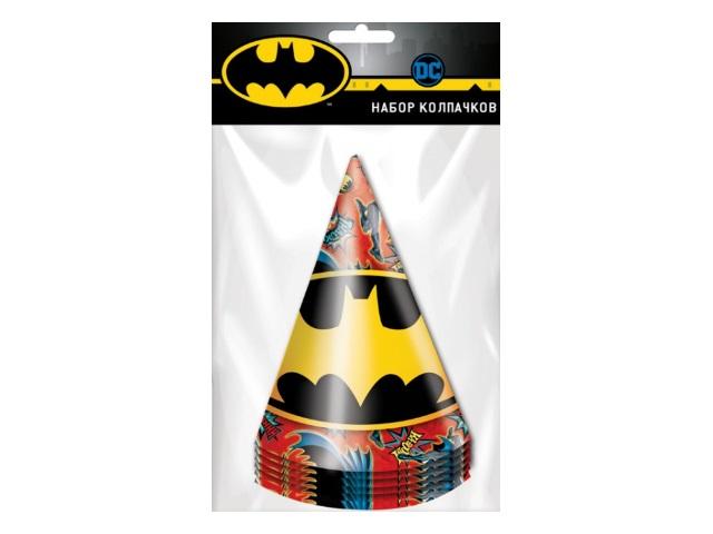 Колпаки картон  6 шт. NDPlay Batman 280564