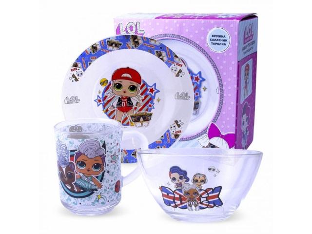 Посуда стекло 3 предмета NDPlay LOL Surprise! 284445