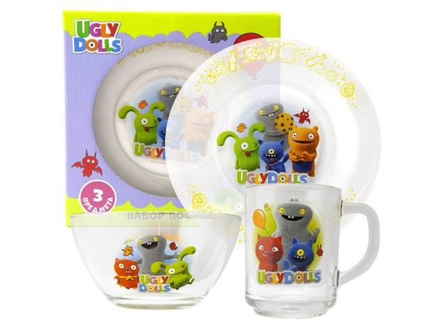 Посуда стекло 3 предмета NDPlay Куклы с характером 285763