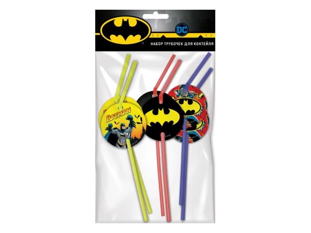 Трубочки для коктейля 6 шт. NDPlay Batman 282851