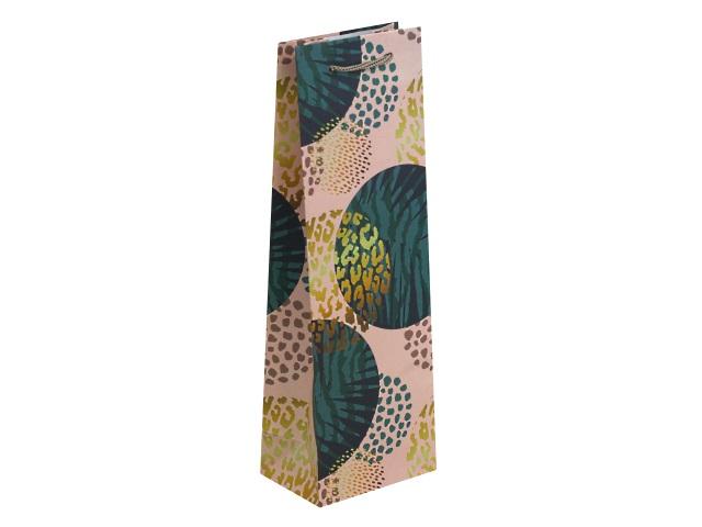 Пакет подарочный бумажный под бутылку 36*12*8.5см Тропический рай ППД-9801