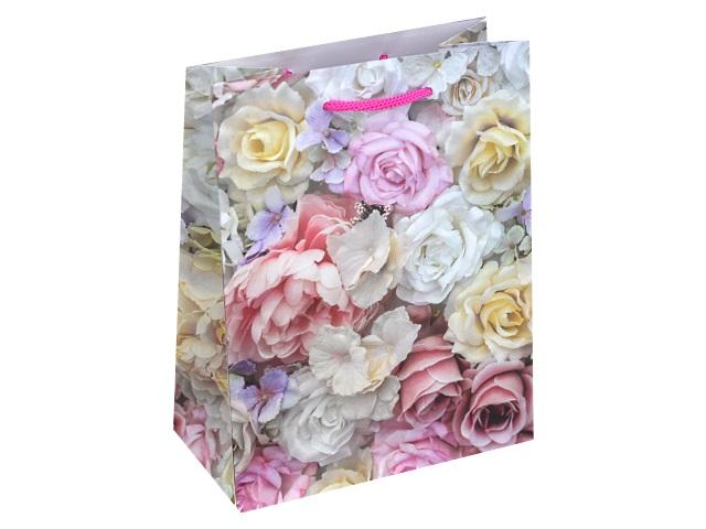 Пакет подарочный бумажный 18*23*10см Цветочные мотивы Miland ППД-9828
