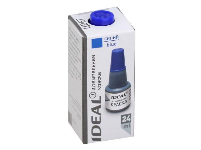 Краска штемпельная 24 мл Trodat Ideal 7711 синяя на водной основе 153079