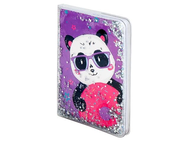 Блокнот А6 Kite силиконовая обложка 80л Panda K20-231-1