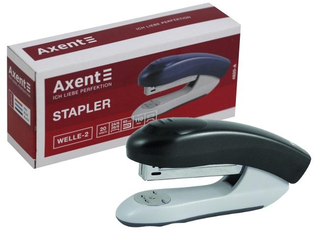 Степлер №24/6 20л Axent Welle-2 пластик черный 4820-01-A