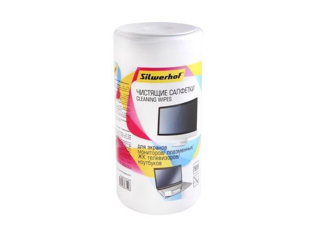 Салфетки для монитора 100 шт. Silwerhof 671214