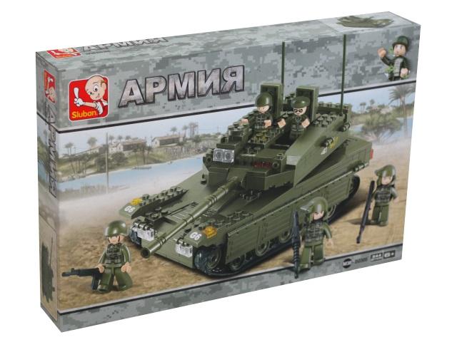 Конструктор  344 детали Армия Танк Sluban M38-B0305