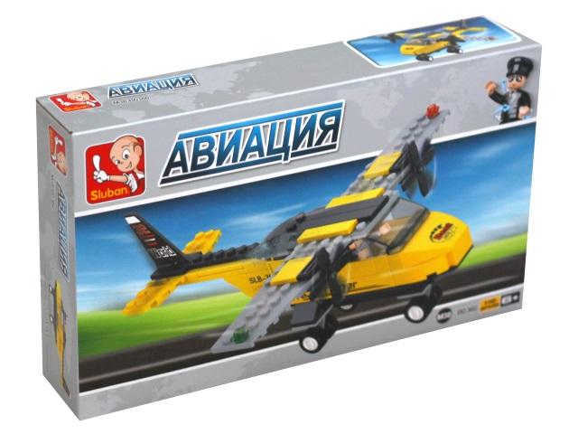 Конструктор  110 деталей Тренировочный самолет Sluban M38-B0360