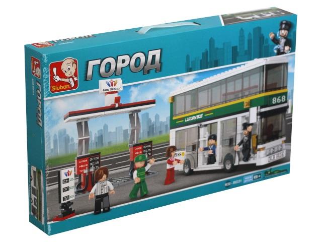 Конструктор  403 детали Sluban Город Двухэтажный автобус M38-B0331