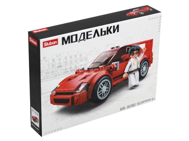 Конструктор  163 детали Sluban Модельки Автомобиль M38-B0706D