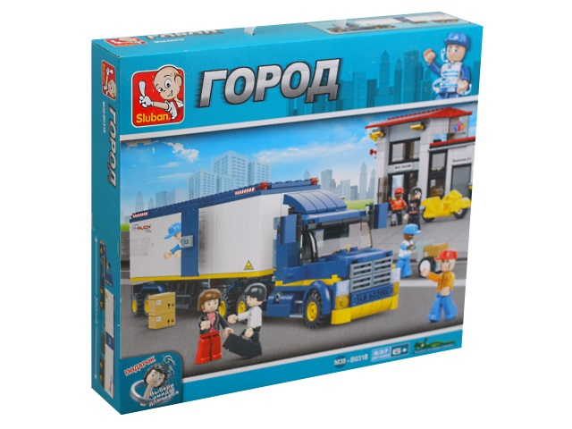 Конструктор  537 деталей Sluban Город Большой грузовик M38-B0318