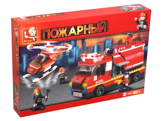 Конструктор  409 деталей Sluban Пожарный Первая помощь M38-B0222