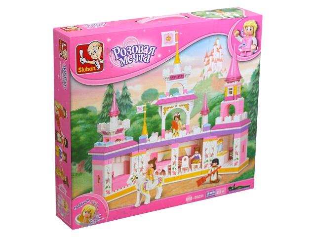 Конструктор  385 деталей Sluban Розовая мечта Волшебный замок принцессы M38-B0251