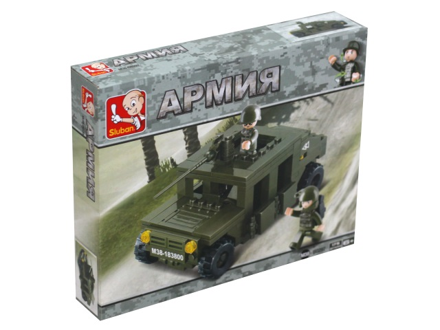 Конструктор  175 деталей Армия Хаммер Sluban M38-B0297