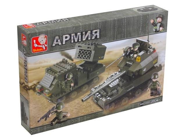 Конструктор  403 детали Армия Танковый корпус Бронетанковая группа Sluban M38-B0288