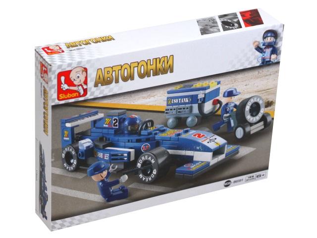 Конструктор  196 деталей Sluban Автогонки Формула-1 Мини-гонщик M38-B0351