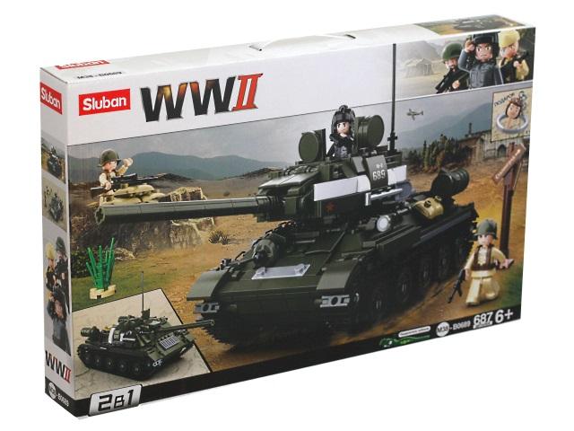 Конструктор  687 деталей Sluban Советский танк M38-B0689