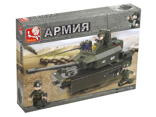 Конструктор  215 деталей Sluban Армия Танк М1А2 Абрамс M38-B0287
