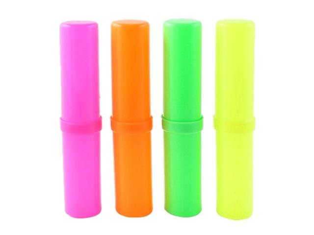 Пенал-тубус пластик Prof Press Стандарт плюс цветной ПН-0495