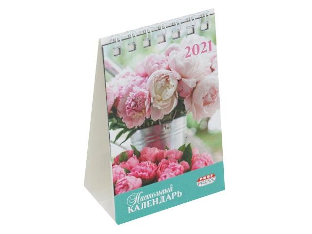 Календарь-домик мини 2021 настольный Prof Press Букеты цветов КД-0054