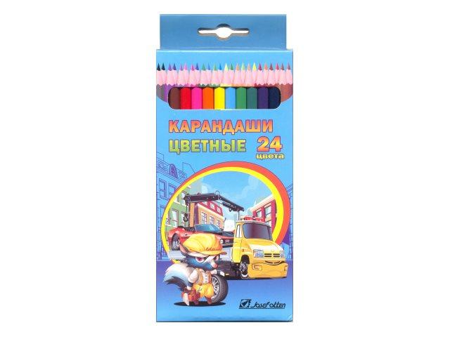 Карандаши цветные 24цв J.Otten Спасатели шестигранные 7303С-24