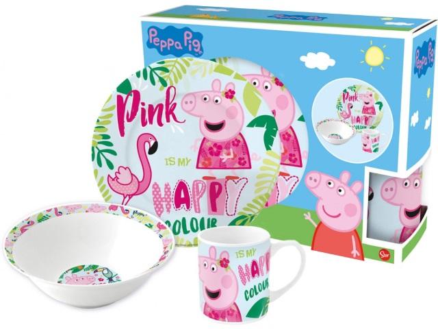 Посуда керамика 3 предмета NDPlay Свинка Пеппа и Фламинго 275409