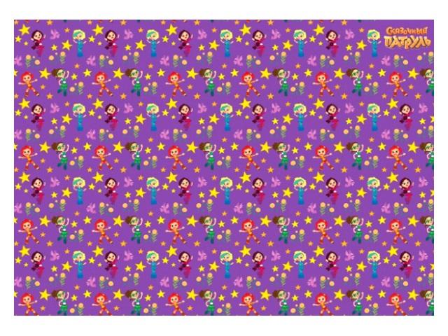 Бумага упаковочная  2 шт. 70*100см NDPlay Сказочный патруль фиолетовая 275858