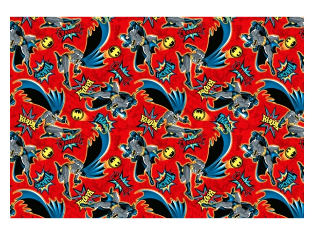 Бумага упаковочная  2 шт. 70*100см NDPlay Batman красная 280573