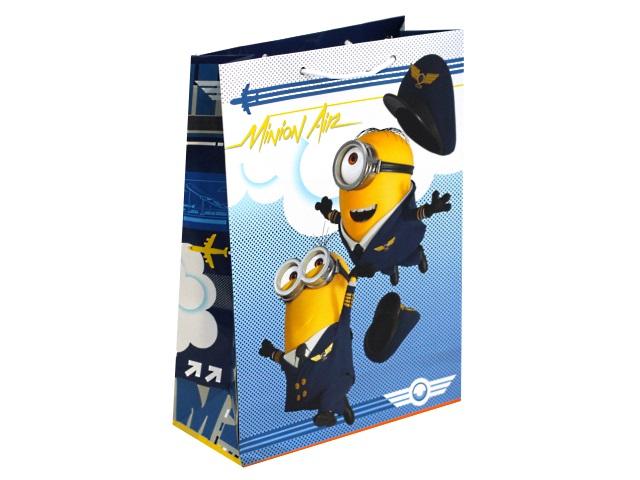 Пакет подарочный бумажный 22*31*10см NDPlay Minions-2 287120