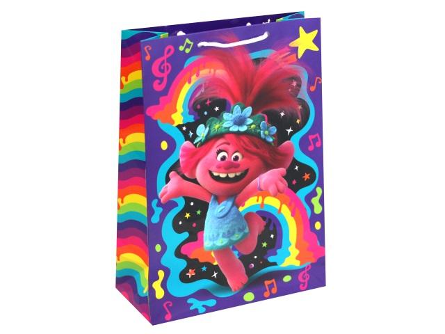 Пакет подарочный бумажный 22*31*10см NDPlay Trolls 287171