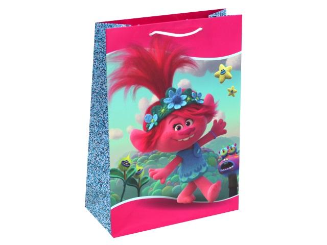 Пакет подарочный бумажный 22*31*10см NDPlay Trolls 287173
