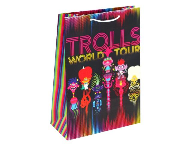 Пакет подарочный бумажный 22*31*10см NDPlay Trolls 287174