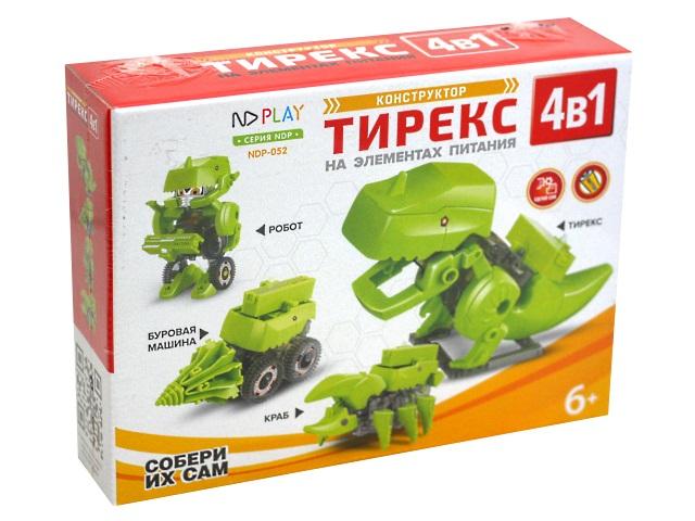 Конструктор NDPlay Тирекс 4в1 на батарейках 277376