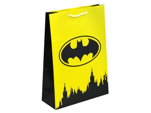 Пакет подарочный бумажный 25*34*10см NDPlay Batman желтый 286629