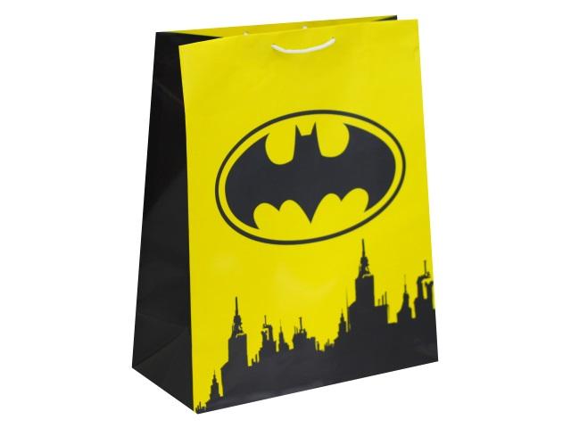 Пакет подарочный бумажный 33.5*40.6*15.5см NDPlay Batman желтый 286630