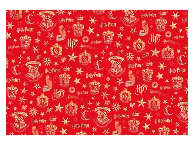 Бумага упаковочная  2 шт. 70*100см NDPlay Harry Potter красная 278534