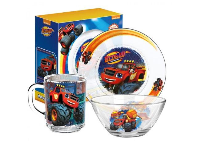 Посуда стекло 3 предмета NDPlay Вспыш и чудо-машинки Спецтехника 288805