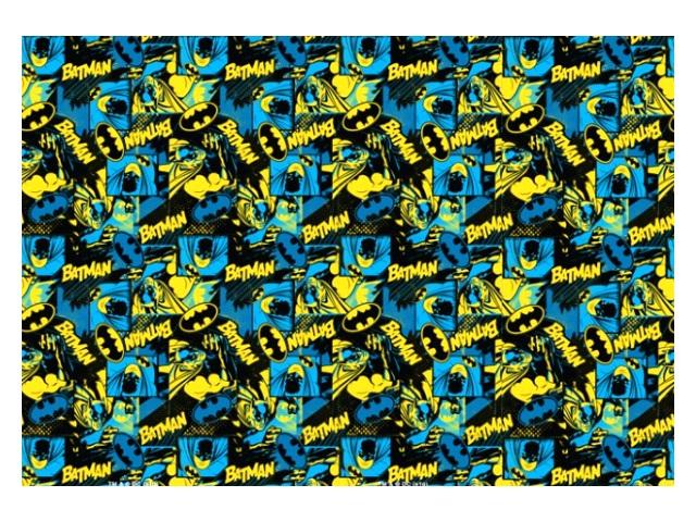 Бумага упаковочная  2 шт. 70*100см NDPlay Batman синяя 283441