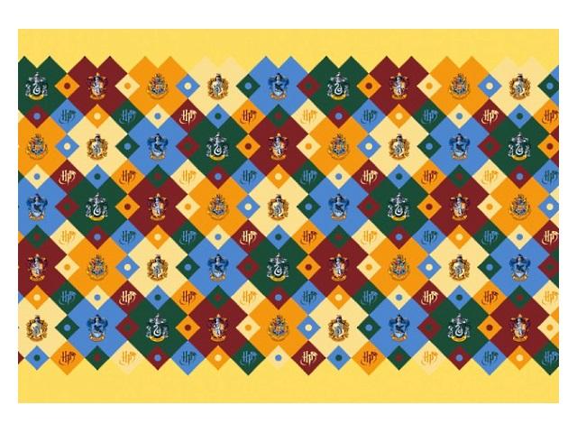 Бумага упаковочная  2 шт. 70*100см NDPlay Harry Potter желтая с гербами 283696