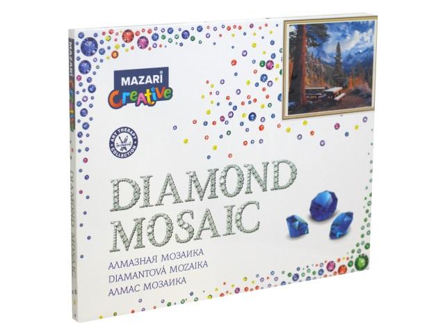 Алмазная мозаика 40*50см Mazari Скамейки в горах M-11258