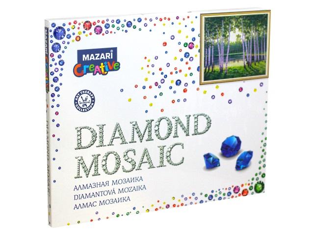 Алмазная мозаика 40*50см Mazari Березы на берегу M-11265