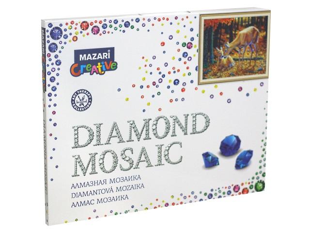 Алмазная мозаика 40*50см Mazari Малыши в лесу M-11233