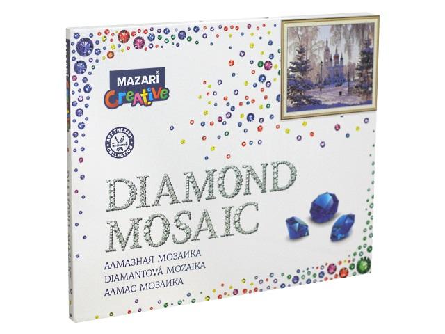 Алмазная мозаика 40*50см Mazari Храм зимой M-11255
