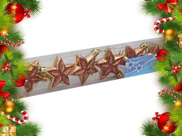Ёлочная игрушка набор  6 шт. Звезды J.Otten 6349