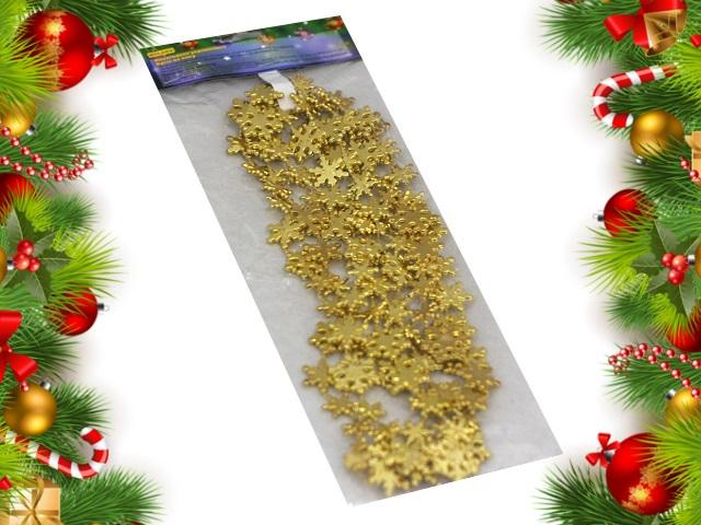 Бусы на ёлку Снежинки золотые Miland НУ-6752