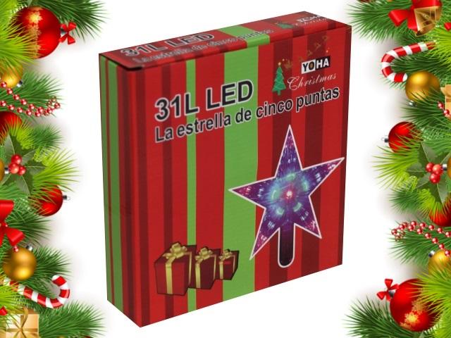Ёлочная игрушка Верхушка Лучистая звезда 22*22 см синяя от сети Miland НЛ-8348