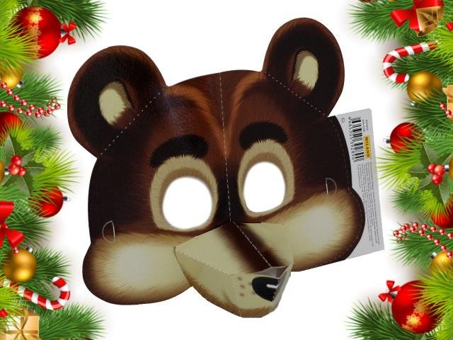 Маска картон Медведь Miland КРК-9288