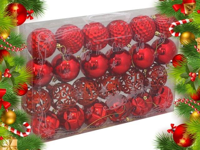 Ёлочная игрушка набор 24 шт. Вьюга 8см красные Miland НУ-0388