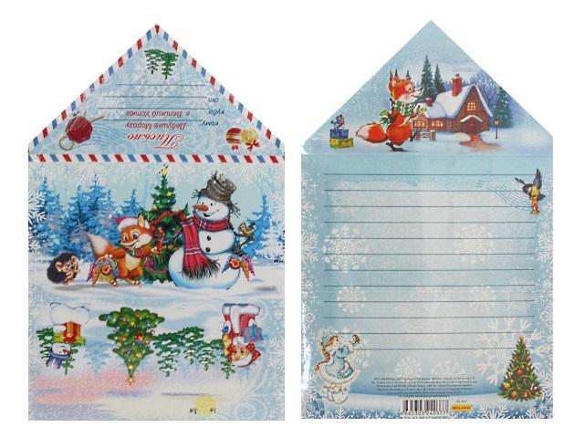 Письмо Деду Морозу Снеговик и зверята Miland ПД-4037