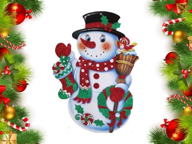 Плакат для декора Милый снеговик 35см Miland НУ-0826